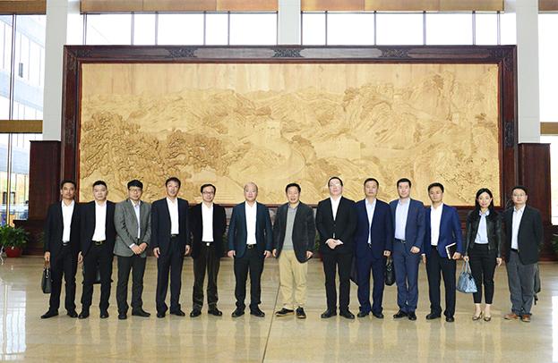 汇盈娱乐平台注册总裁庄展诺一行受邀参访北京用友产业园
